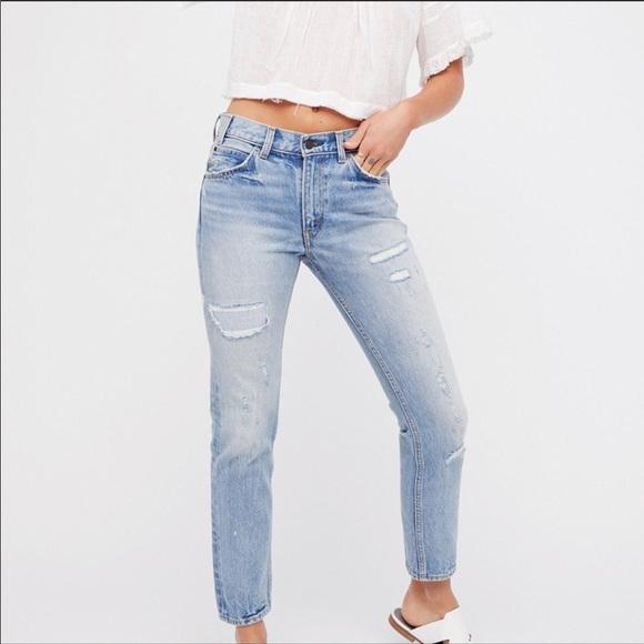 e7a6fb54 Levi's Jeans | Last1 Nwt Levis 505c Cropped Patchwork Blue Jean ...